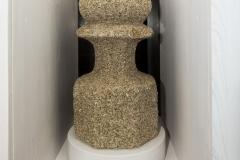 Pináculo Granito, 78 x 32 cm (diámetro) S. XIX-XX