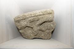 Capitel dobre Granito, 36 x 39 x 30 cm S. XIV