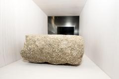 Fuste cilíndrico entrego Granito Fragmento. 1, 60 x 18 cm (diámetro)  S. XIV